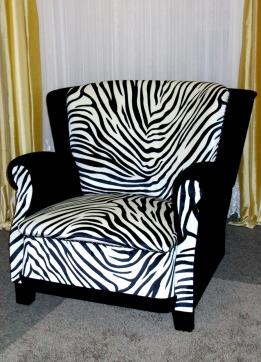 Ein Sessel im Safari-Look (Quelle: Privat)